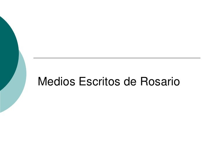 Medios Escritos de Rosario