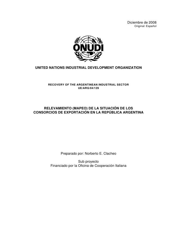 Diciembre de 2008                                                                Original: Español     UNITED NATIONS INDU...