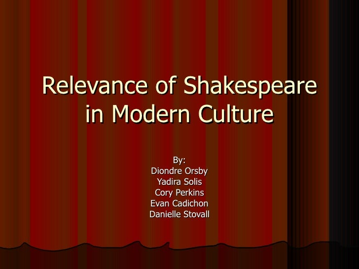 Relevance Of  Shakespeare In  Modern  Culture