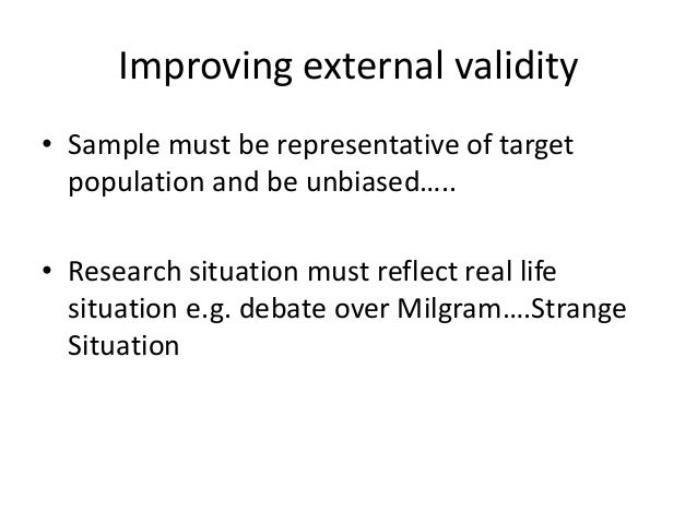 Research methods validity and reliability