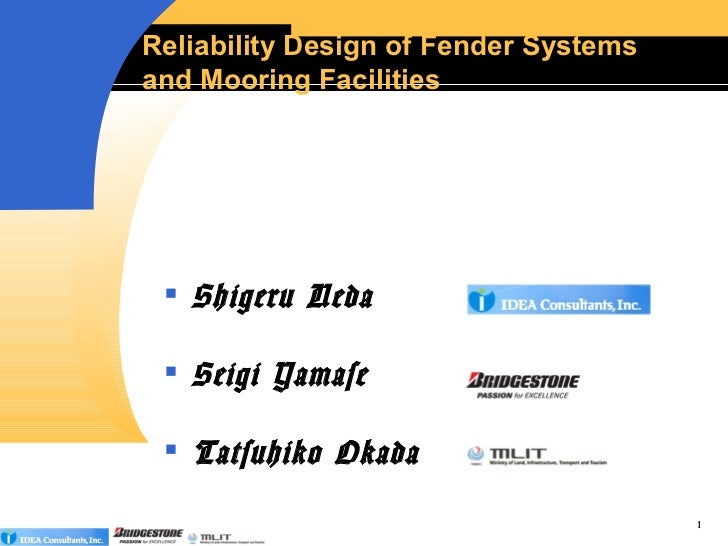 Reliability design of fender systems5(h24.2.7)