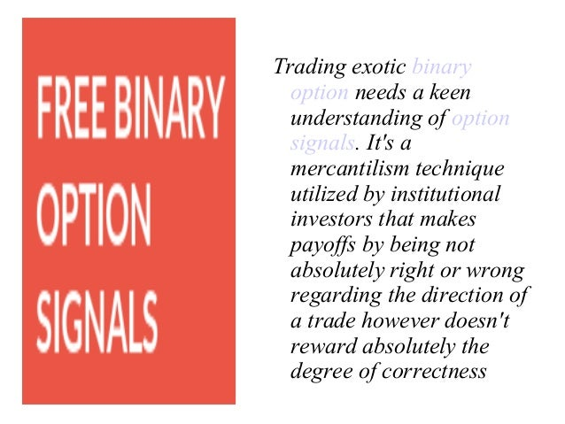 strategy gives accurate signals for binary options