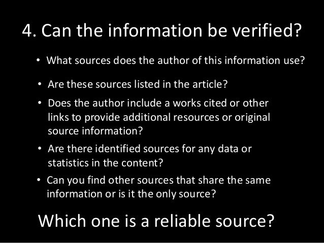 credible sources for research I'd say there are two options here which could be credible sources of information for a research paper, and those are a study by researchers published on a university.