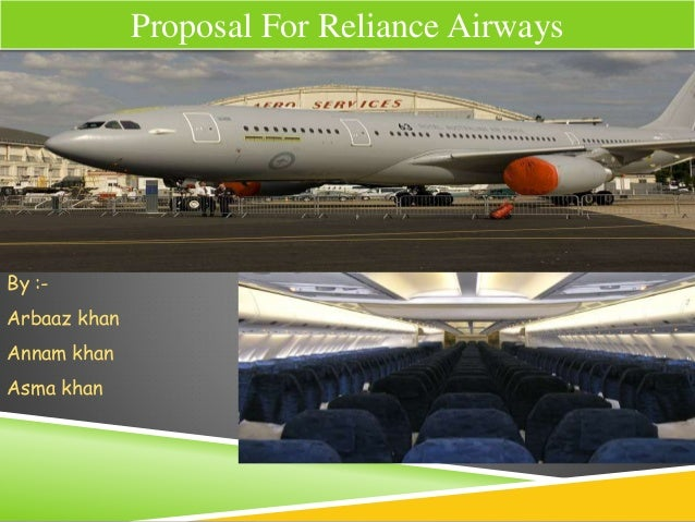 proposal for Reliance airways