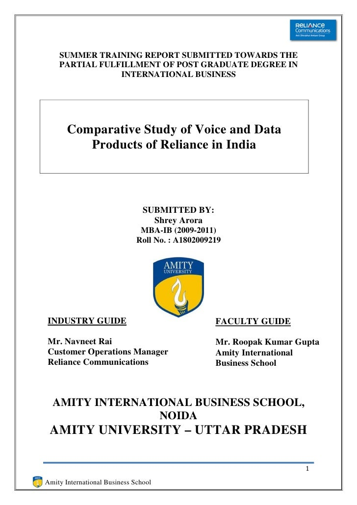 Reliance communications report 2
