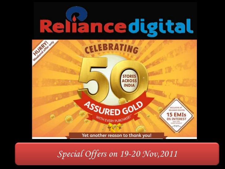Reliance digital 50 store launch success offers