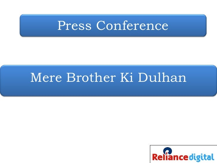 Press Conference  <br />Mere Brother KiDulhan<br />