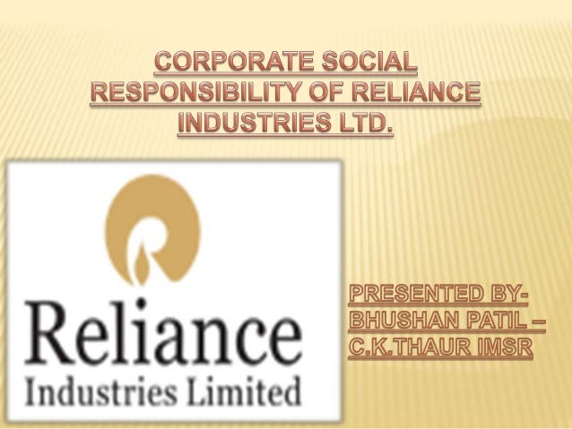 Reliance industries csr