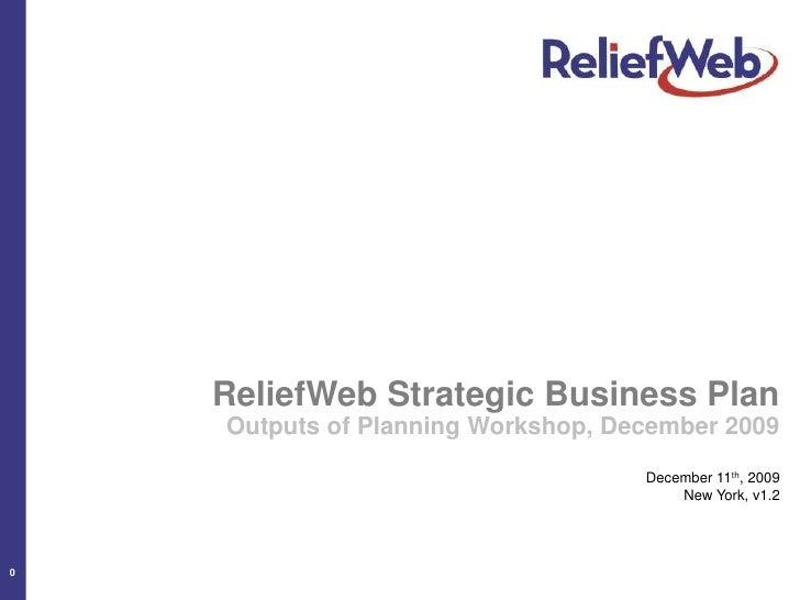 ReliefWeb Strategic Business Plan