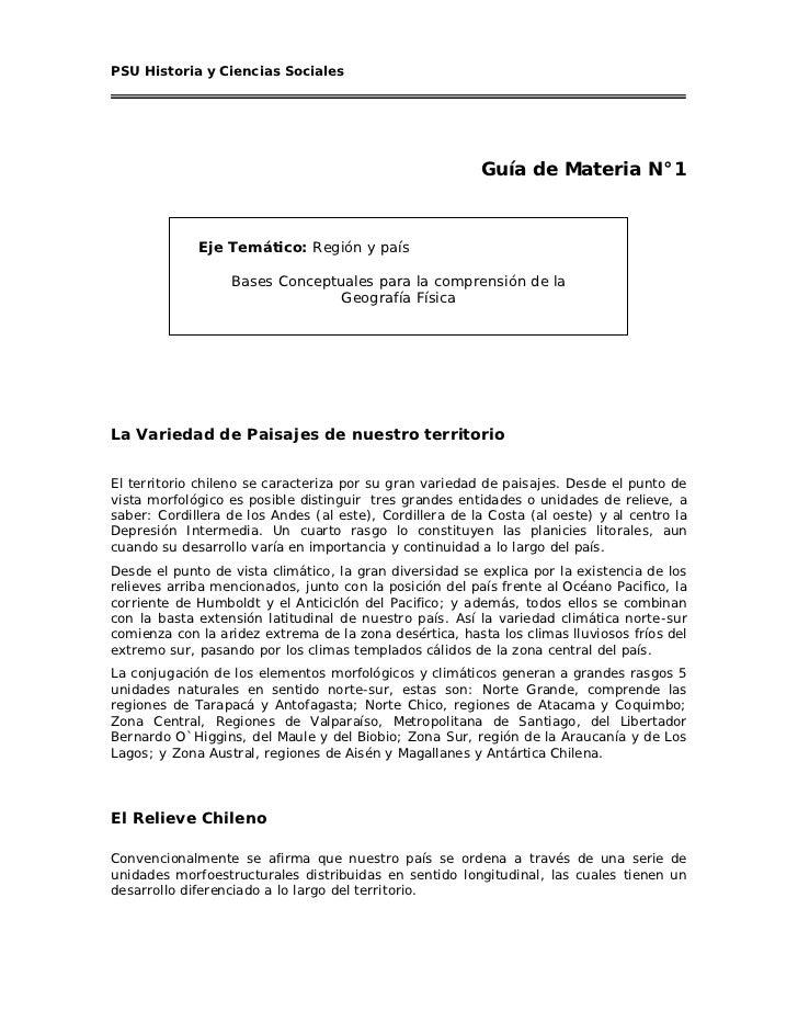 PSU Historia y Ciencias Sociales                                                         Guía de Materia N°1             E...