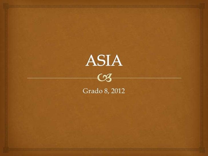 Relieve de asia