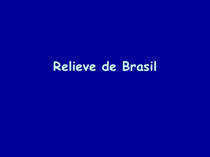 Relieve de brasil