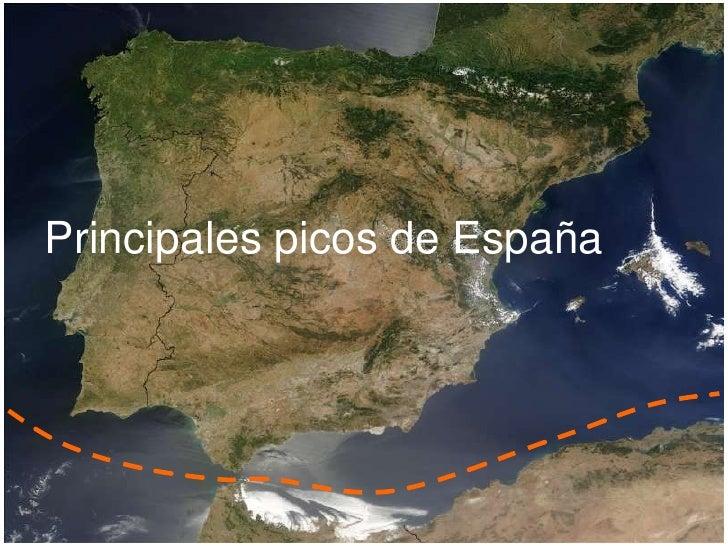 Principales picos de España<br />