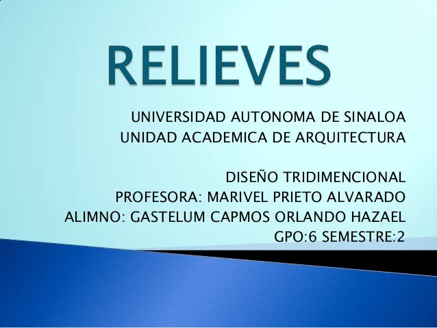 Relieves tridi