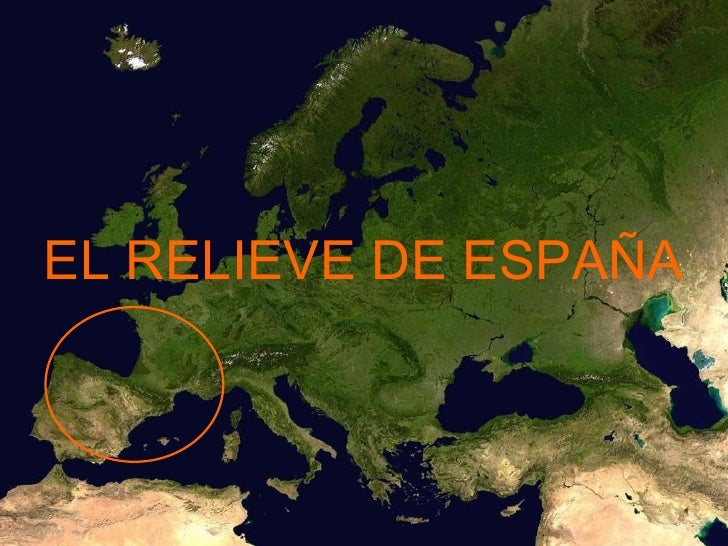 EL RELIEVE DE ESPAÑA