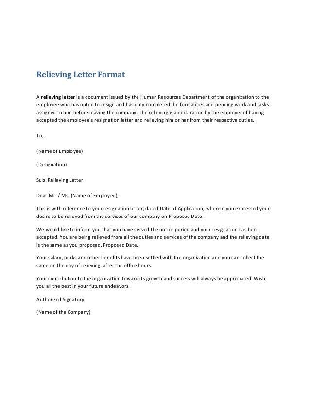 Job Resignation Letter Pdf Format