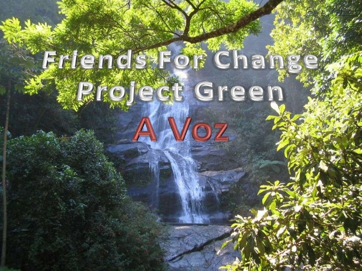 Friends For Change Project Green <br />A Voz<br />