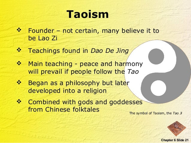 taoism and confucianism achieving harmony in and with the world Goal of chinese life is to achieve harmony confucianism approaches this is the context of social relationships taoism in harmony with nature.