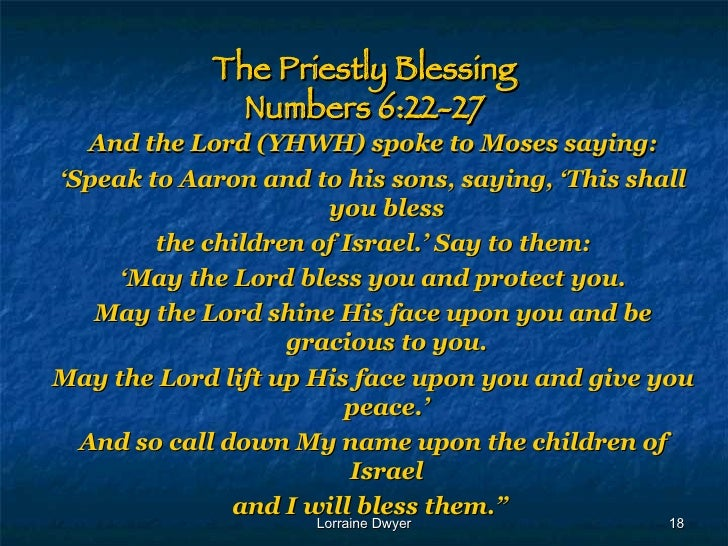 The Significance of the Priestly Blessing: Numbers 6 ...