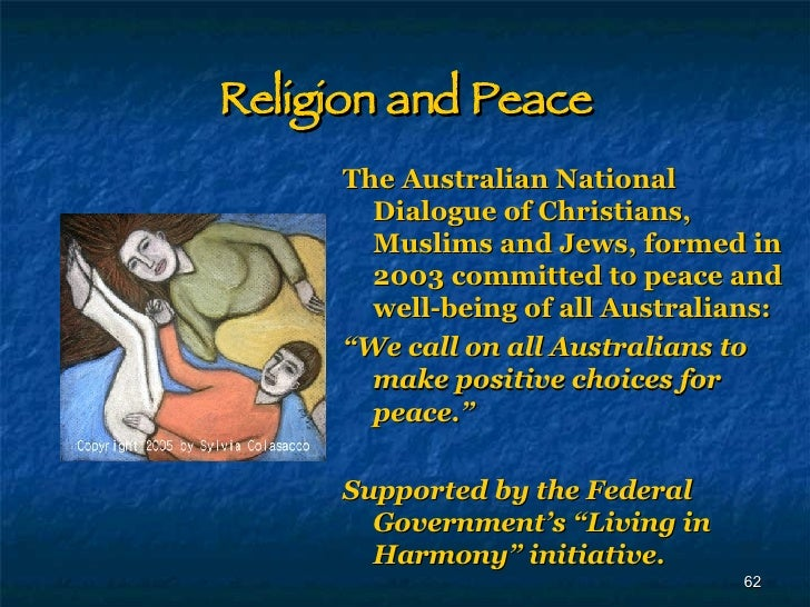 religion and peace christianity and islam essay 5-12-2016 reflection paper: both christianity and islam are very wide spread religions in the world which have a great impact on the lives of their b.