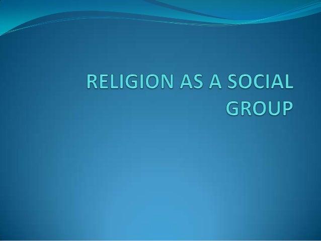 Religion as a social group