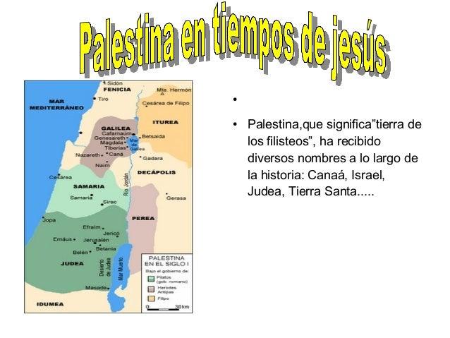 """●●    Palestina,que significa""""tierra de    los filisteos"""", ha recibido    diversos nombres a lo largo de    la historia: C..."""