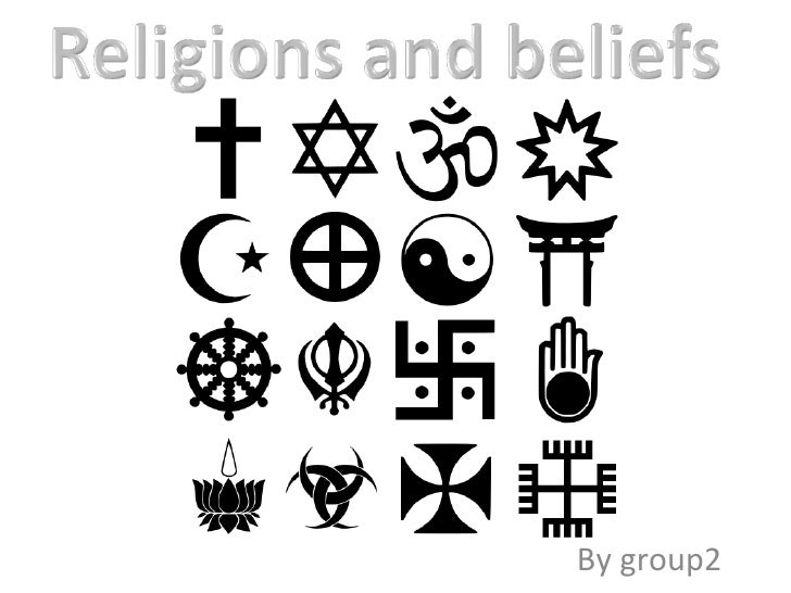 Religions and beliefs by group2