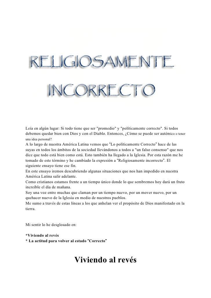 Religiosamente Incorrecto