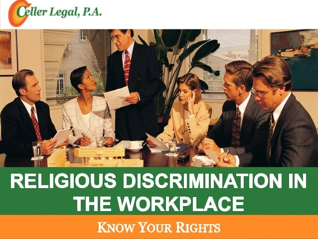 religious discrimination in the work place