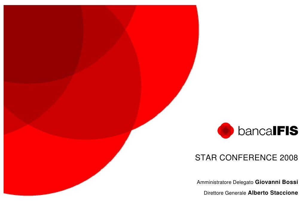 Banca Ifis - STAR CONFERENCE 2008