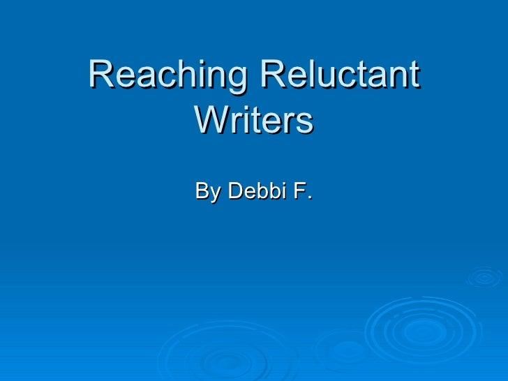 Reluctant Readers    Debbi 2006