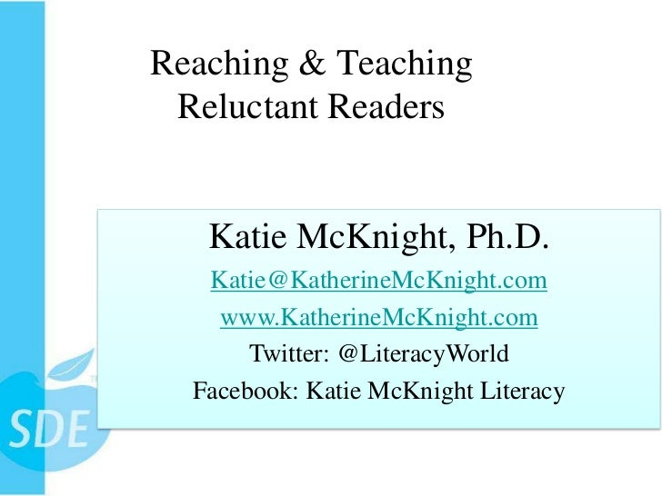 Reaching and Teaching Reluctant Readers