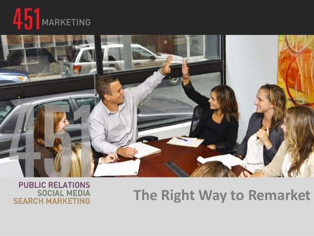 The Right Way to Remarket:  Converting Your Online Audience to Sales