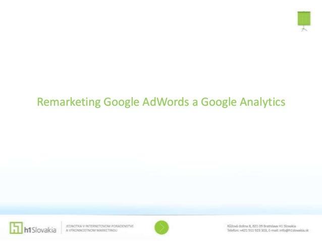 Remarketing Google AdWords a Google Analytics