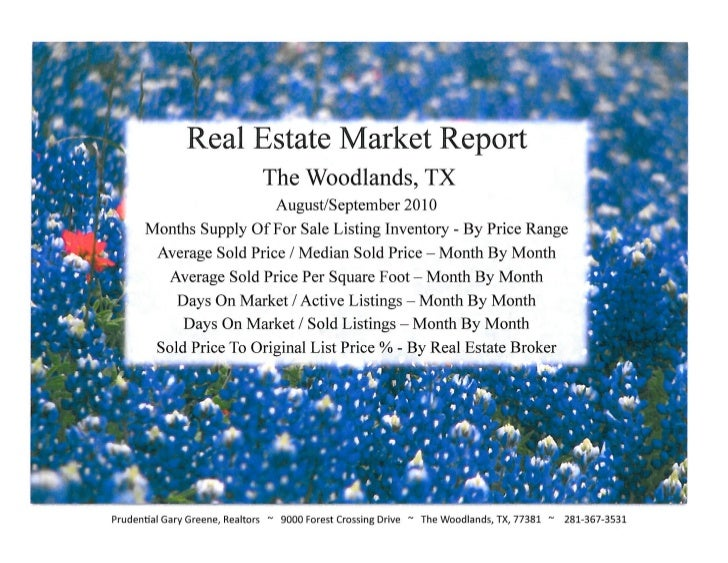 The Woodlands TX - Real Estate Market Reports, September 2010