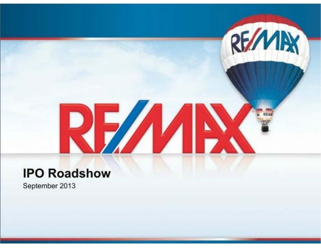 Remax holdings   ipo roadshow investor presentation - sep 2013