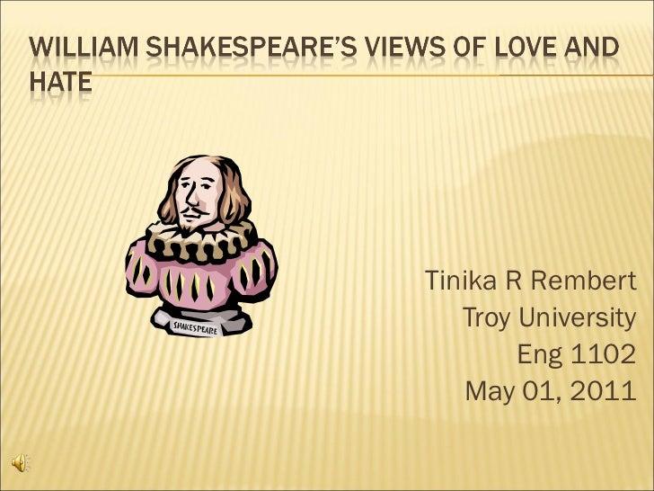 <ul><li>Tinika R Rembert </li></ul><ul><li>Troy University </li></ul><ul><li>Eng 1102 </li></ul><ul><li>May 01, 2011 </li>...