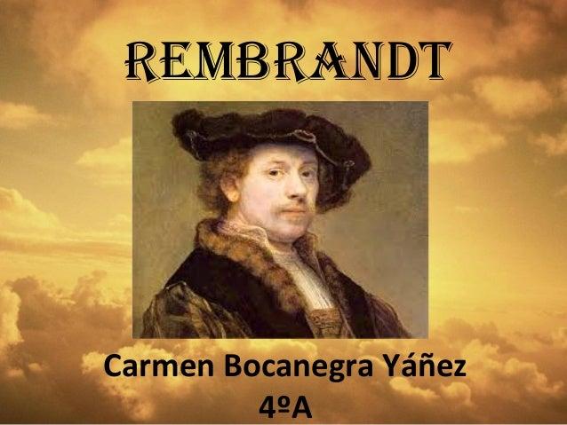 Trabajo sobre Rembrandt
