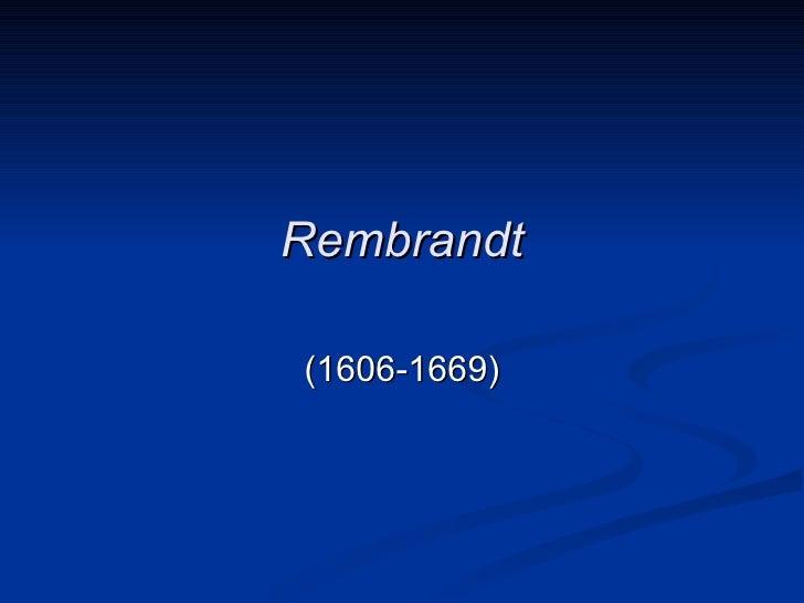Rembrandt(1606-1669)