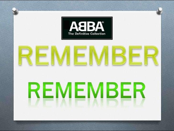 Remember Abba (Pp Tminimizer)