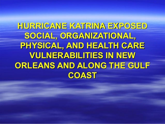 did hurricane katrina expose racism in america The history of hurricane katrina on august 29, 2005, the third strongest and biggest hurricane ever recorded in american history hit the gulf coast at eight o'clock am the interaction between a tropical depression and a tropical wave created a tropical storm later referred to as hurricane katrina (faqs, 2013.