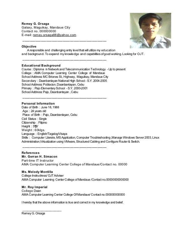 remey resume sle