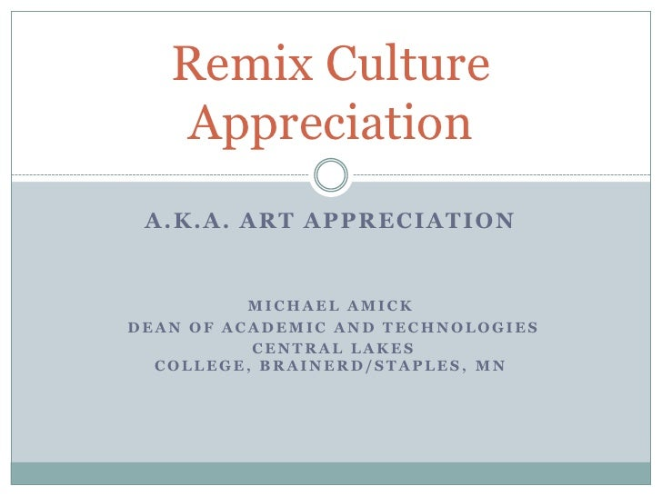 Remix Appreciation Itc09