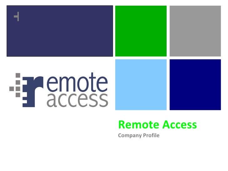 Remote Access Company Profile