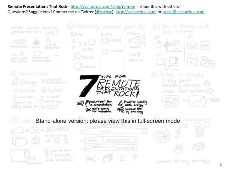 Remote Presentations That Rock 2011 (Standalone)