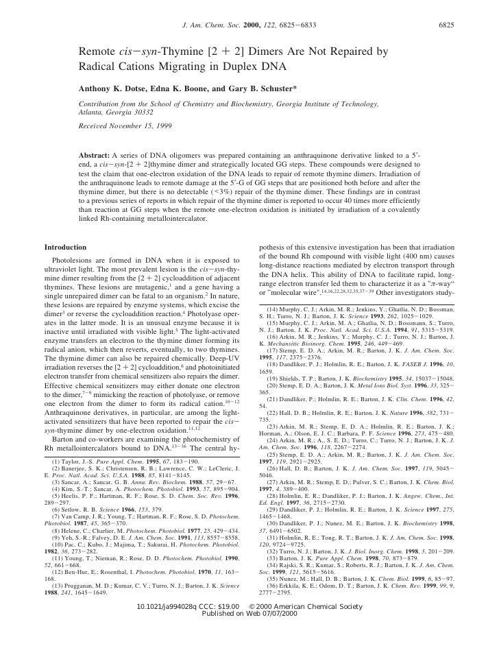 J. Am. Chem. Soc. 2000, 122, 6825-6833                                                          6825                Remote...