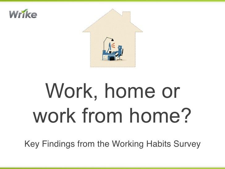 Work, home or  work from home?Key Findings from the Working Habits Survey!