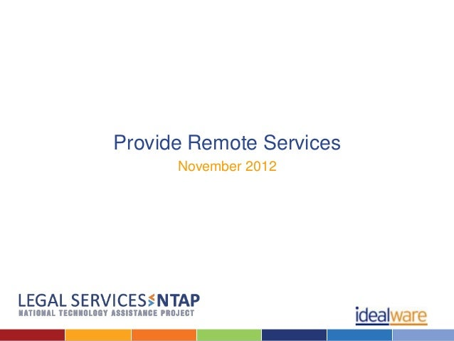 Provide Remote Services      November 2012