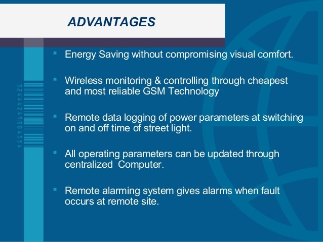 Advantages Of Internet Monitor System : Remote street light monitoring and control system for