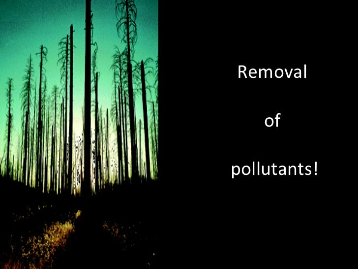 Removal  of  pollutants!